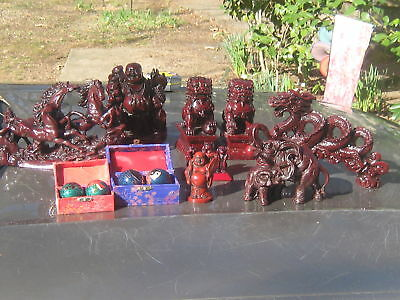 WHOLESALE LOT OF ASIAN RED DRAGON FIGURINES ATLANTA METRO