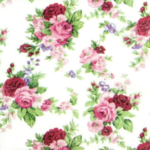 4x Paper Napkins for Decoupage Craft Vintage Antoinette Roses