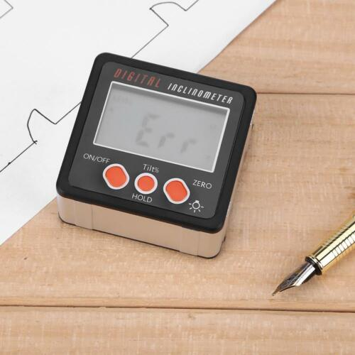 Portable Mini Digital Protractor Inclinometer Angle Finder Bevel Box with Base