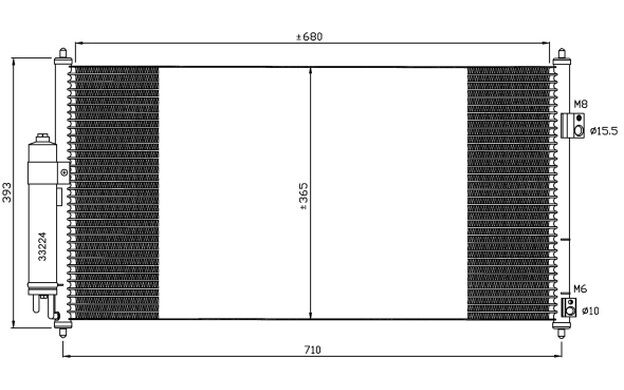 NRF Condensador, aire acondicionado NISSAN X-TRAIL 35550