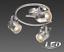 LED Globo  Spotbalken Deckenleuchte Lampe Leuchte Spot nickel chrom 57352-3