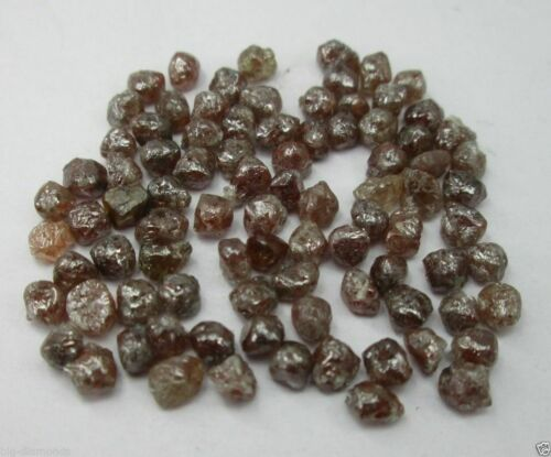 Details about  /5.0 CTS NATURAL UNCUT RED ROUGH DIAMOND LOT 3.50 to 4.50 mm RAW DIAMONDS LOT