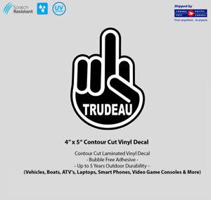 4-034-x-5-034-F-Trudeau-Finger-Laminated-Vinyl-Decal