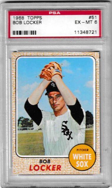 1968 Topps Bob Locker 51 Baseball Card Graded Psa 6 Ex Mt