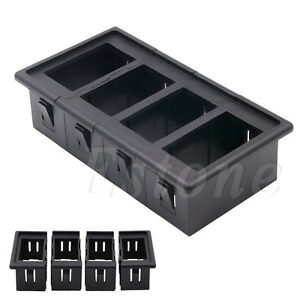 Details about New 4 Gang Boat Rocker Switch Clip Panel Patrol Holder  Housing For ARB Carling