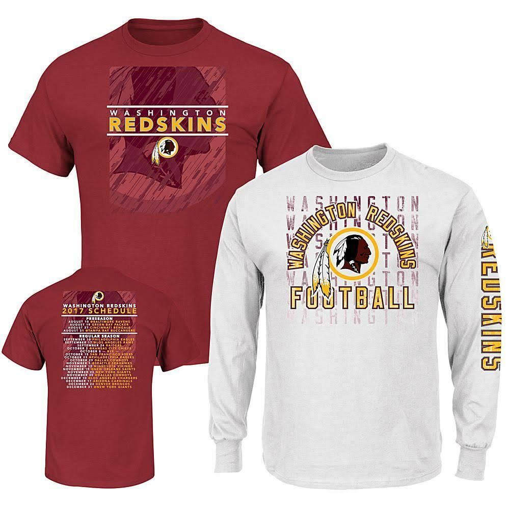 Officially Licensed NFL T-Shirt Combo  ROTskins SIZE 4X