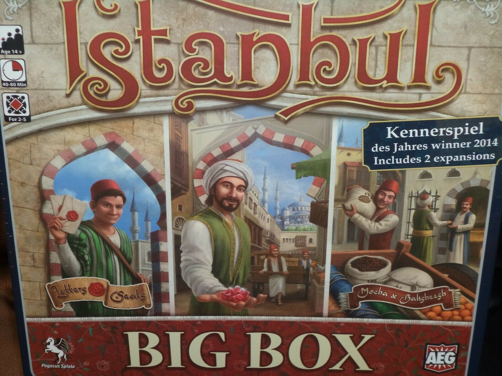 Istanbul Big Box Edition Set - AEG Games Board Game New  Has Both Expansions