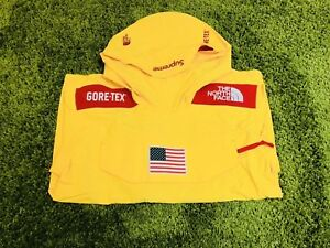 138308223 Details about Supreme S/S 2017 The North Face Gore-Tex Pullover (Yellow)  Box Logo