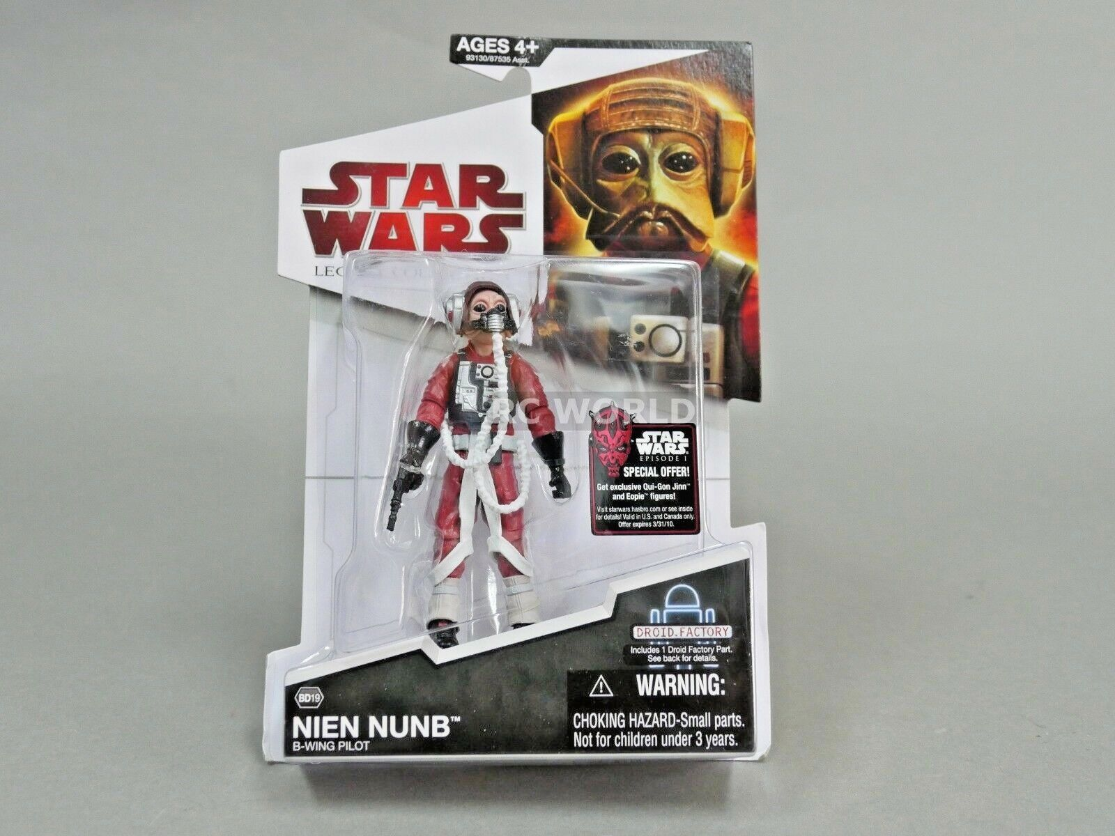 Star Wars Legacy Collections NIEN NUNB  Droid Factory  Action Figure  e3a