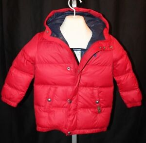 9c3853a92 Polo Ralph Lauren Boys Jacket Kids Small Down Fill Puffer Red Coat ...