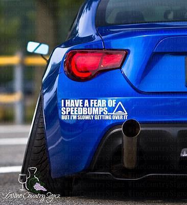 Mini Truck Lowrider bagged Fear Of Speedbumps Car Window Wall Decal Sticker