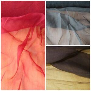 Das Bild wird geladen fester-stehender-Chiffon-Stoff-Dekostoff-3-Farben-ROT- 06bc213e3e
