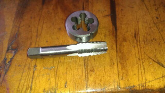 """M10 x 1.25 RH die button 1/"""" OD set tungsten steel Hand tap plug"""
