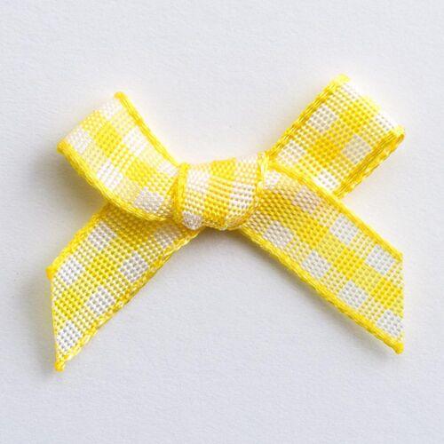 10 Pack 1 25 ou 100 miniature 3 cm Pré Attaché VICHY 6 mm Ribbon Bows