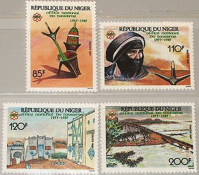 Niger 1987 1027-30 767-70 Natl. Tourism Office 10th Ann Nomade Tourismus Mnh Krankheiten Zu Verhindern Und Zu Heilen