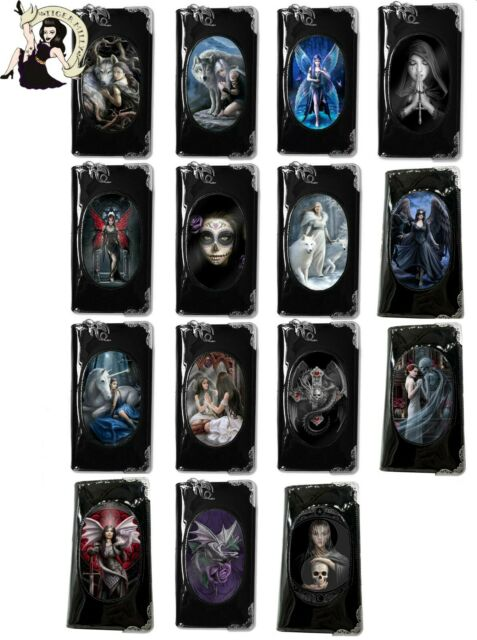 "ANNE STOKES World of 3D Purse Wallet Black PVC Gothic Fantasy /""Gothic Guardian/"""