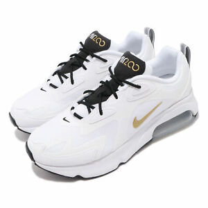 Nike-Air-Max-200-White-Gold-Black-Mens-Running-Shoes-Sneakers-AQ2568-102-SIZE-10