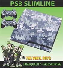 PLAYSTATION PS3 SLIM URBAN CAMOUFLAGE CAMO ARMY STICKER SKIN & 2 PAD SKINS