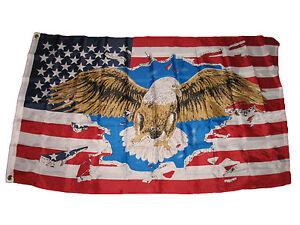 aa9416345f3 3x5 American Eagle USA United States America Flag 3 x5  Banner Brass ...