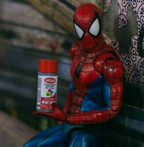 Red-Spray-Paint-Can-Diorama-PROP-ONLY-Mezco-Marvel-Legends-NECA-1-12