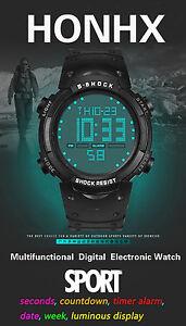 dbdebeda6bab La imagen se está cargando Moda-Hombre-LCD-Digital-Cronometro-Fecha-Alarma- Nino-