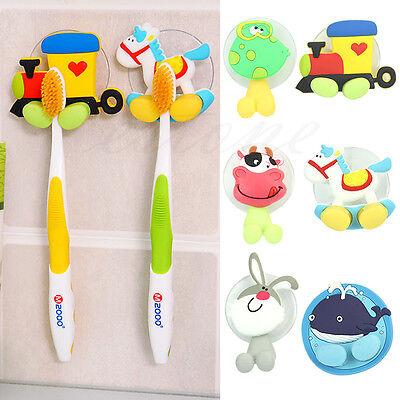 Animal Cartoon Toothbrush Holder Family Wall Bathroom Hanger Hook Sucker Cup New