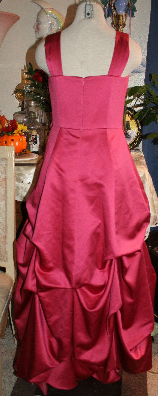 Davids bridal bridal bridal pink satin wedding prom bridesmaids formal evening long dress 8 c57078