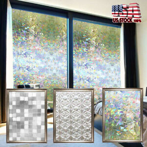 Window-Privacy-Film-Stained-Glass-Decorative-Home-Frosted-Static-Cling-Sticker