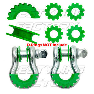 New-GREEN-Isolator-Washers-1-Pair-Set-Silencer-Clevis-for-3-4-034-D-ring-Shackles