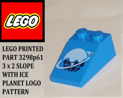 LEGO 3298p61/_SLOPE 33/_3 x 2 BLUE SLOPE WITH ICE PLANET LOGO PATTERN