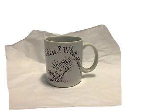 """STRESS? WHAT STRESS?"" Shoebox Greetings Coffee Mug 8 ounce USED"