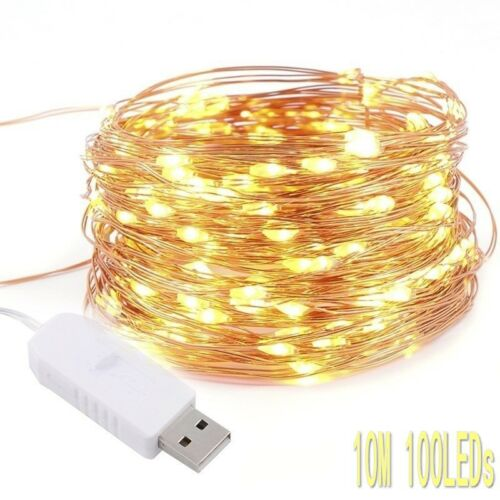 USB 50//100LED String Copper Wire Fairy Lights Wedding Xmas Party Fairy Decor d6