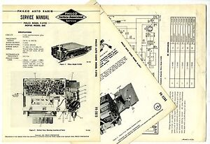 PHILCO-M-5702-MOPAR-848-AUTO-RADIO-SERVICE-MANUAL-ORIGINAL-BOOK