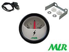 52MM carica della batteria DYNAMO ALTERNATORE Amperometro Misuratore 60 Amp Ampere Bianca faccia AZJ