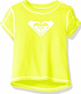 1f216084c520 ROXY YOUTH GIRL RASH GUARD SUNNY LIME SWIM SHIRT TOP UPF 50 SUN ...