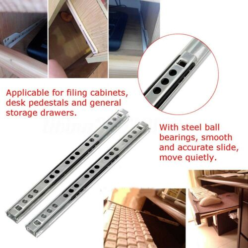 Micro Ball Guide Two Sections Wide Steel Ball Two Fold Ball Slide Drawer Steel