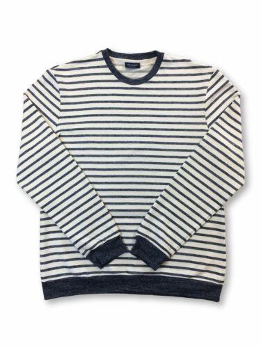 Saint James Pertuis cotton knitwear in ecru and indigo stripe