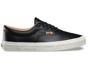 dcaa0b7b60 Image is loading Vans-Era-Lux-Leather-Black-Porcini-Skate-Shoes-