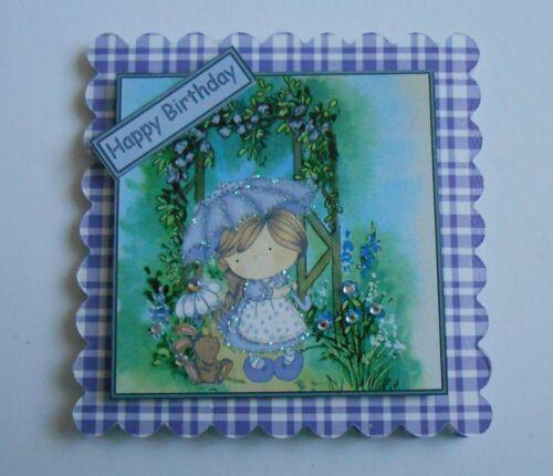 PK 2 Rosas Lila Topper Adornos-tarjetas de agradecimiento por