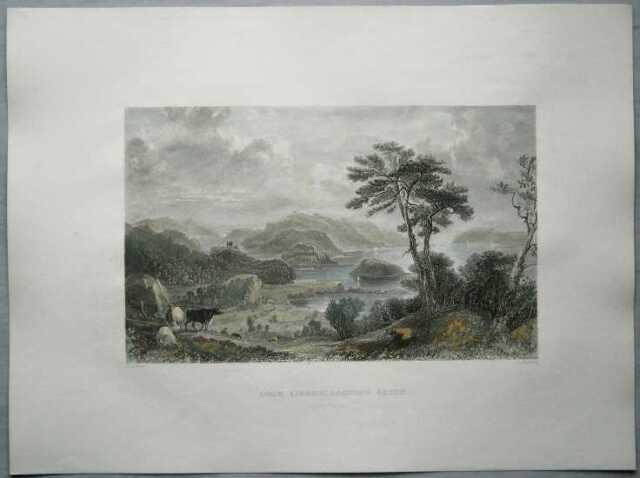 1837 Allom print SCOTLAND: LOCH LINNHE, ARGYLLSHIRE (#26)