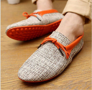 Mens Casual Breathable Weave Loafers Driving Soft Boat Shoes Fashion