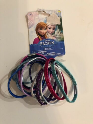 Purple /& Teal Glitter Disney Frozen Elsa /& Anna Hair Elastics hair ties  Pink