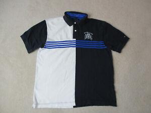 VINTAGE-Tommy-Hilfiger-Polo-Shirt-Adult-Extra-Large-Black-White-Crest-Mens-90s