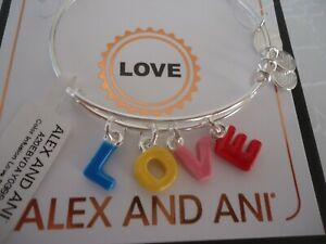 Shiny Silver Alex and Ani Color Infusion Numerology Eight EWB A20EBNUM8SS One Size