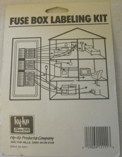 Hy-Ko Self Adhesive Fuse Box Labeling Kit
