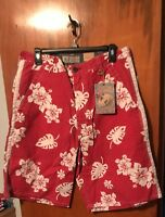 Arizona Jean Company - Hibiscus Print Coastal Board Shorts - Size 38 Mens