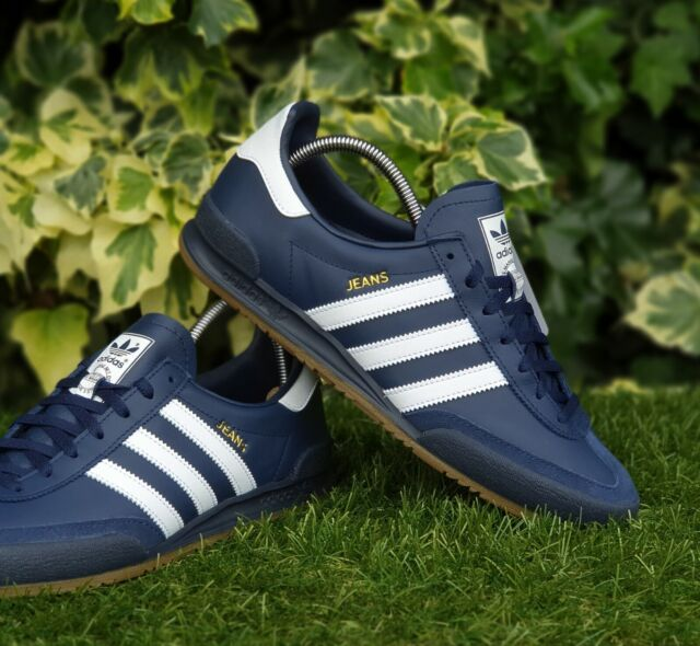 ❤ BNWB & Genuine adidas originals ® Jeans MkII Navy Leather Trainers UK Size 8