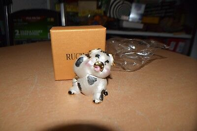 New w//o box Rucinni Hand Painted Enamel Pig Trinket Box
