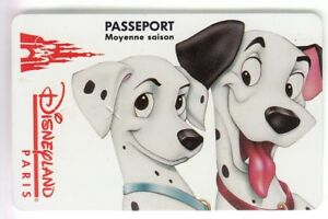 DISNEY PARIS PASS CARTE / CARD .. M.S 101 DALMATIENS CHIEN N°2  S089409 15/10/94