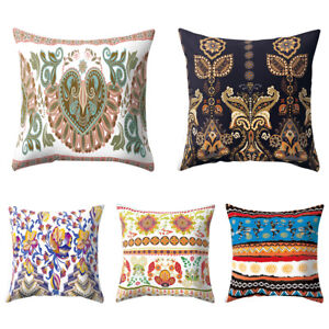 Image is loading Egyptian-Women-Floral-Square-Cushion-Cover-Throw-Pillow- 8c5f28715